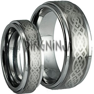 His and Her Wedding Ring Set Tungsten