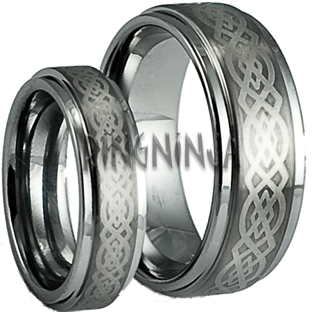 his and her wedding ring set tungsten - Affordable Wedding Ring Sets